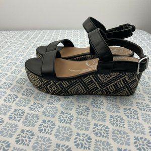 DV by Dolce Vita Brynn Platform Sandals Boho Woven